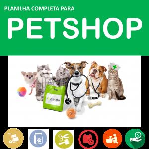 planilha para pet shop