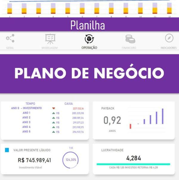 Planilha Plano de Negócio em Excel